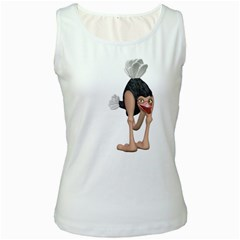 Ostrich 3 Womens  Tank Top (White)