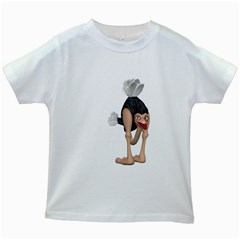 Ostrich 3 Kids' T Shirt (white)