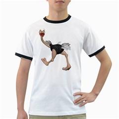 Ostrich 4 Mens' Ringer T-shirt