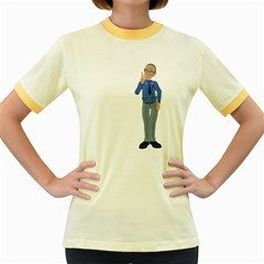 Grandpa 1 Womens  Ringer T-shirt (Colored)