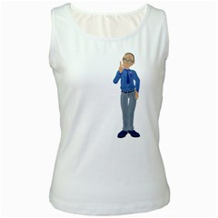 Grandpa 1 Womens  Tank Top (White)