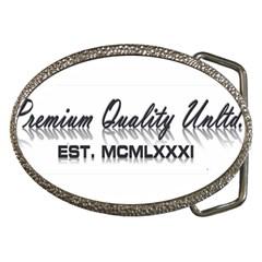 Banner Belt Buckle (oval)