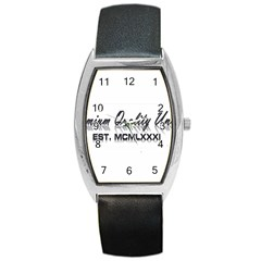 Banner Tonneau Leather Watch