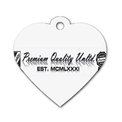 Banner Dog Tag Heart (Two Sided)