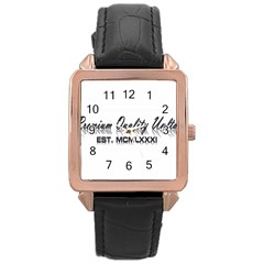 Banner Rose Gold Leather Watch