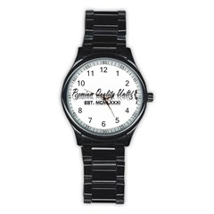 Banner Sport Metal Watch (Black)