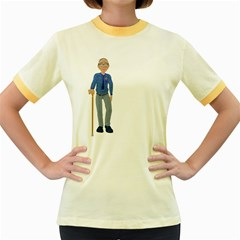 Grandpa 2 Womens  Ringer T Shirt (colored)