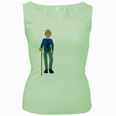 Grandpa 2 Womens  Tank Top (Green)