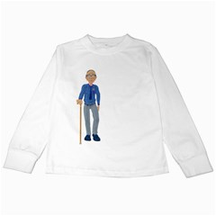Grandpa 2 Kids Long Sleeve T-Shirt