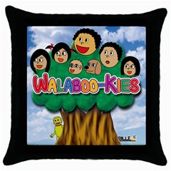 Walabookies-cover (1) Black Throw Pillow Case