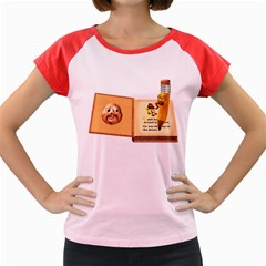 Fairy Book Women s Cap Sleeve T-Shirt (Colored)