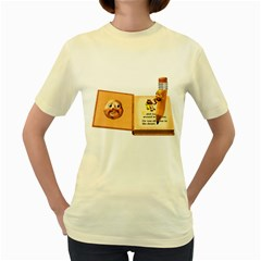 Fairy Book  Womens  T Shirt (yellow)