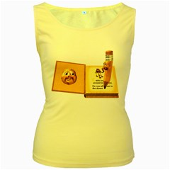 Fairy Book Womens  Tank Top (Yellow)