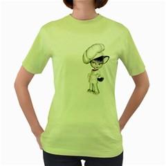 Cook 2 Womens  T Shirt (green)