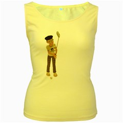 Golfer Womens  Tank Top (Yellow)