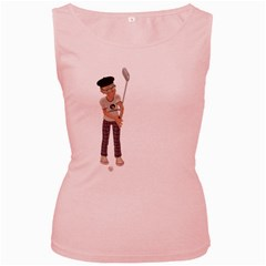 Golfer Womens  Tank Top (pink)