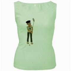Golfer Womens  Tank Top (Green)