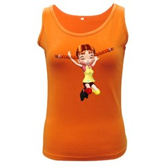 Naughty Girl 1 Womens  Tank Top (Dark Colored)