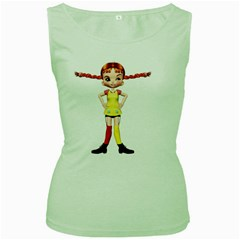 Naughty Girl 2 Womens  Tank Top (green)