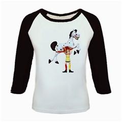Naughty Girl 3 Women s Long Cap Sleeve T-Shirt