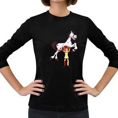 Naughty Girl 3 Womens' Long Sleeve T-shirt (Dark Colored)