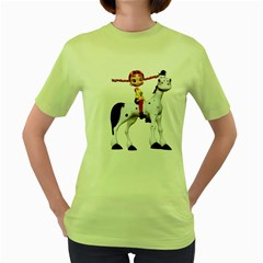 Naughty Girl 4 Womens  T Shirt (green)