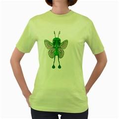 Fly 1 Womens  T-shirt (Green)