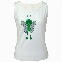 Fly 1 Womens  Tank Top (White)
