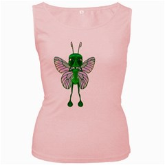 Fly 1 Womens  Tank Top (pink)