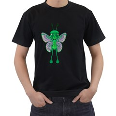 Fly 1 Mens' Two Sided T-shirt (Black)