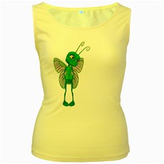 Fly 2 Womens  Tank Top (yellow)