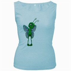 Fly 2 Womens  Tank Top (Baby Blue)