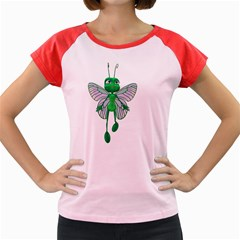 Fly 3 Women s Cap Sleeve T-Shirt (Colored)