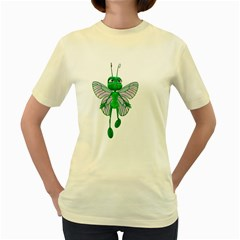 Fly 3  Womens  T-shirt (Yellow)