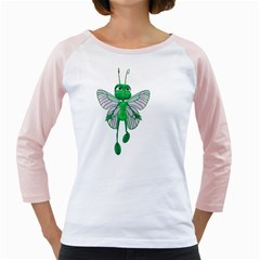 Fly 3 Womens  Long Sleeve Raglan T-shirt (White)