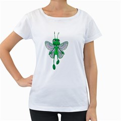 Fly 3 Womens' Maternity T-shirt (White)