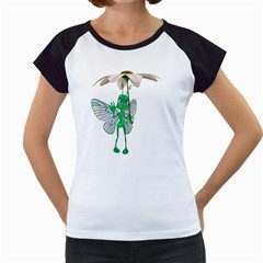 Fly 4 Women s Cap Sleeve T Shirt (white)