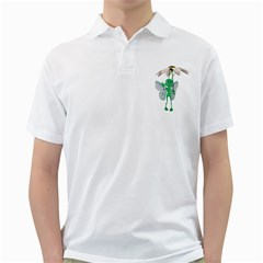 Fly 4 Mens  Polo Shirt (White)