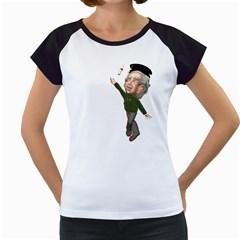 Einstein 1 Women s Cap Sleeve T-Shirt (White)
