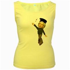 Einstein 1 Womens  Tank Top (yellow)