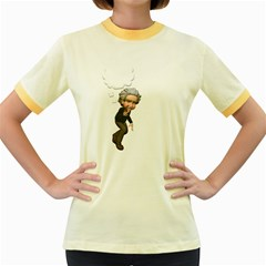 Einstein 2 Womens  Ringer T-shirt (Colored)
