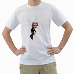Einstein 2 Mens  T-shirt (White)