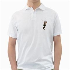 Einstein 2 Mens  Polo Shirt (white)