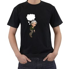 Einstein 2 Mens' Two Sided T Shirt (black)