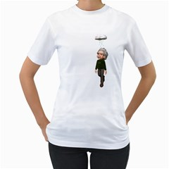 Einstein 3 Womens  T-shirt (White)