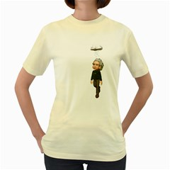 Einstein 3  Womens  T Shirt (yellow)