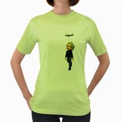 Einstein 3 Womens  T-shirt (Green)