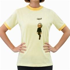 Einstein 3 Womens  Ringer T-shirt (Colored)