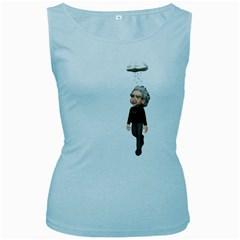 Einstein 3 Womens  Tank Top (Baby Blue)