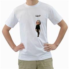 Einstein 3 Mens  T-shirt (White)